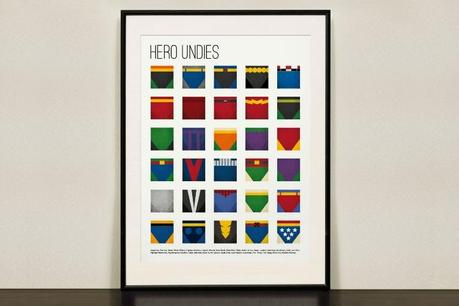 Collage Print of Colourful Super Hero Undies