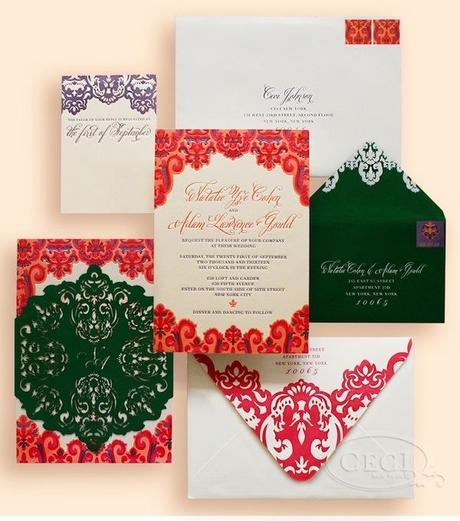 Post image for Brightly Colored Invite from Ceci New York with Belluccia