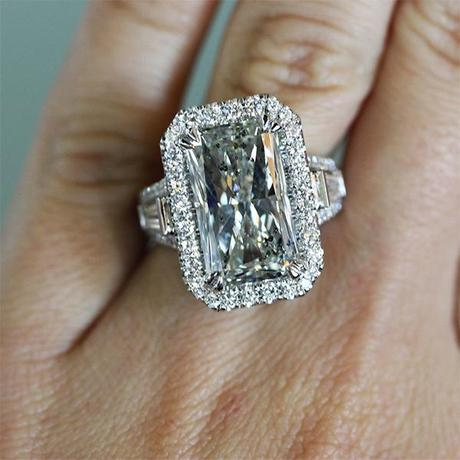 9.03ct radiant cut halo