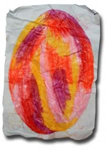 Crayoned and Dyed Egg series – number four