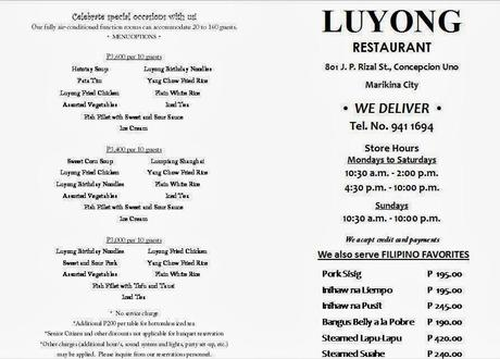 Luyong's group & party packages