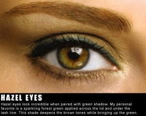 hazel and brown eyes