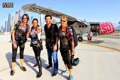 Fast and Furious star Michelle Rodriguez goes skydiving in Dubai