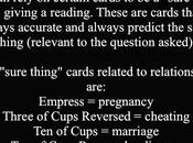 Tarot #32: Sure Thing Cards