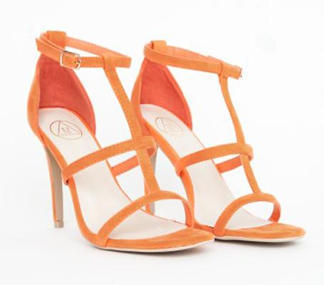 cd23afeabb12 Pick Of The Day  Orange Caged Heel Sandals - Paperblog