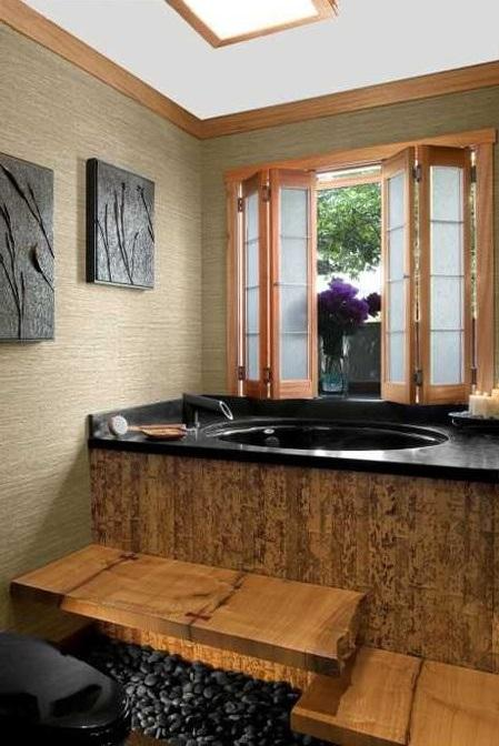 The guiding principles of japanese bath design paperblog for Zen type bathroom designs