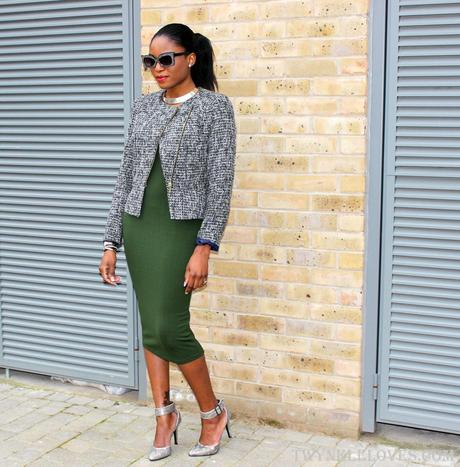 Today I'm Wearing: The Green Dress, From Day To Night