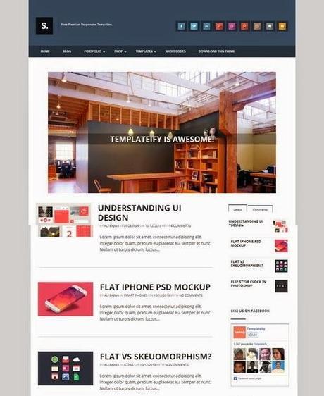 Best Free Premium Blogger Templates - Paperblog