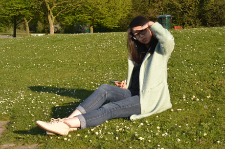 Daisybutter - UK Style and Fashion Blog: what i wore, mint green coat, spring coat