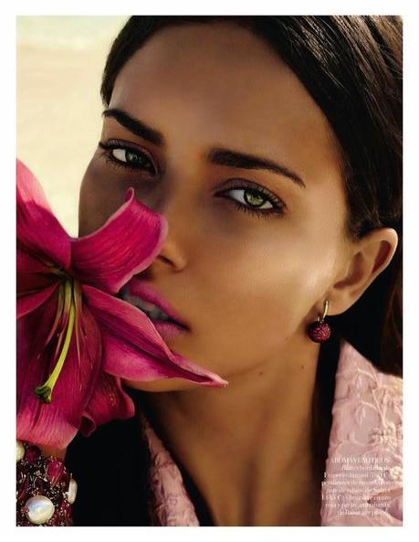Adriana Lima for Miguel Reveriego in Vogue Spain Spread