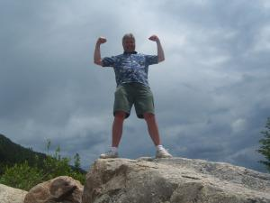 My dad LOVES to hike!