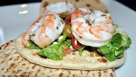 Flatout Greek Shrimp Sandwich