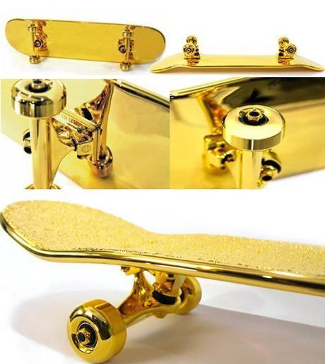 gold skate board