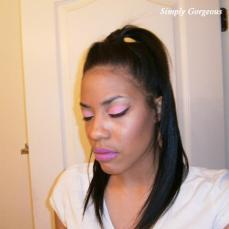 Face Of The Day: Soft Pink + Purple Lips