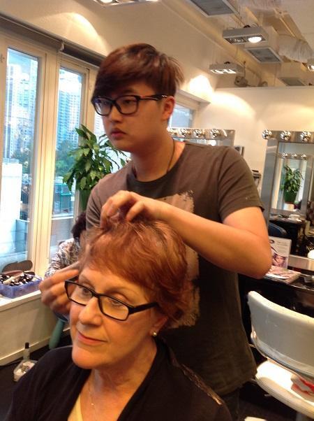 Rex Wong an innovative Hollywood Hair stylist - Before