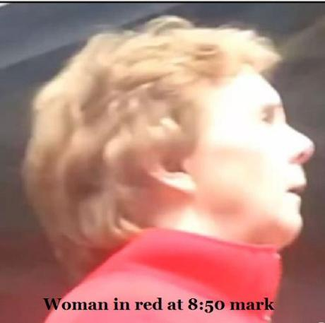 woman in red 8.50