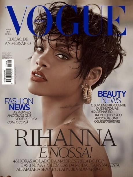 Rihanna in Vogue Brazil's 39th Anniversary Covers