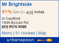 Mr Brightside on Urbanspoon