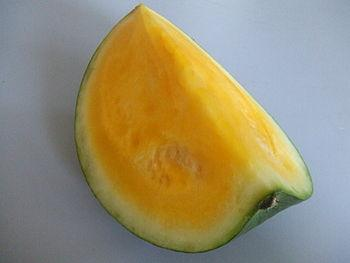 Watermelon with yellow flesh