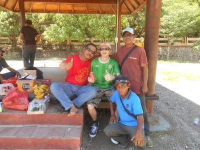 Meeting the locals at Cape Fatucama.