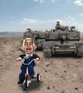 Obama visits troops
