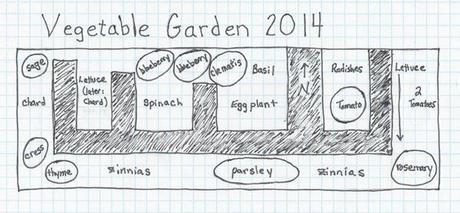 Vegetable Garden Layout, 2014