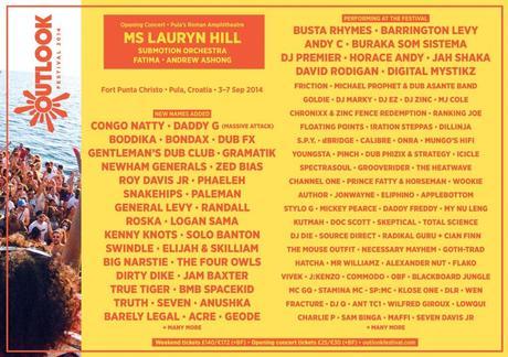 Outlook Festival 2014 Line-Up
