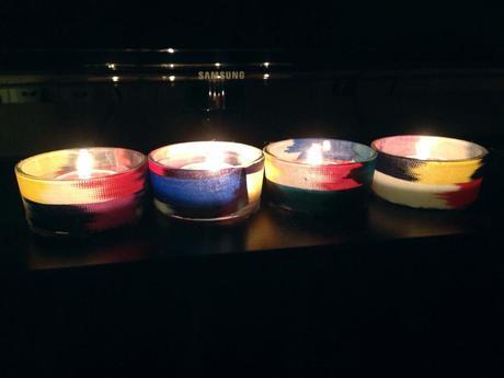 DIY Personalised Tea Light Holders