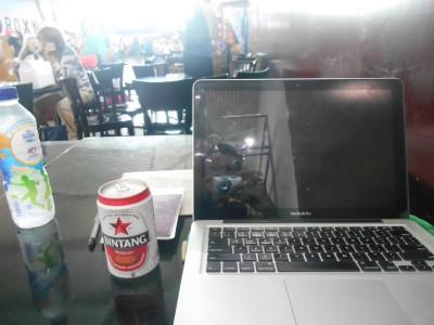 Relaxing in Bali with a Bintang Beer this week.