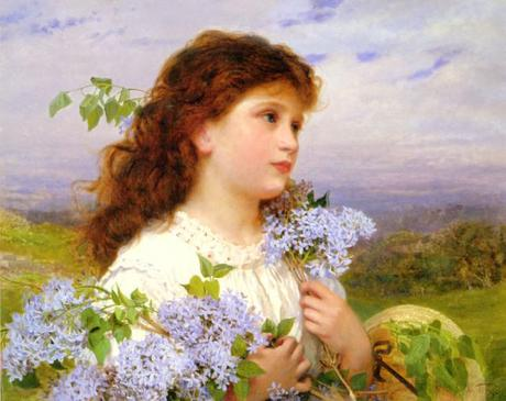 The Time of Lilacs by Sophie Anderson (1823-1903)
