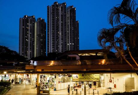 Hawker center at Commonwealth suburb, Singapore