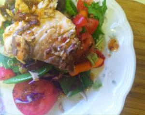 Wild Grilled Salmon w:Mixed Spinach Salad