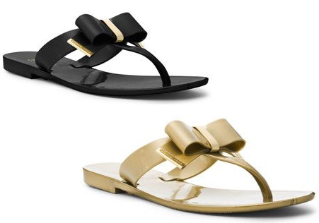 Shiny days need sandals
