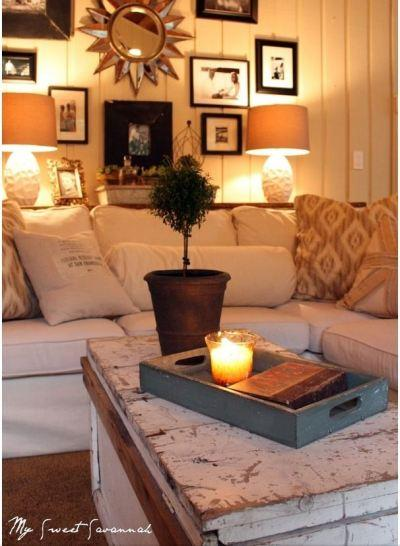 lamps and candles create ambient lighting