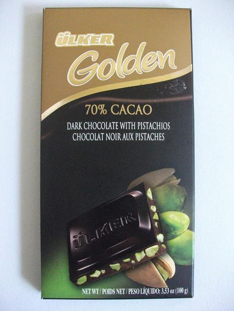 Ülker Golden 70% Cacao with Pistachios - Turkish Dark Chocolate Bar Review
