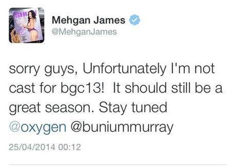 Meghan James Not Apart Of BGC13