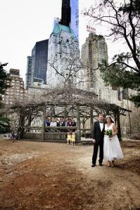 Rachel Dean Central Park Wedding group outside Cop Cot