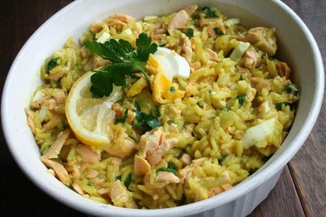 Kedgeree; Curried Fish, Rice and Egg (Dairy and Gluten Free)