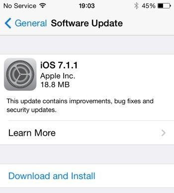 Apple's iOS update to 7.1.1