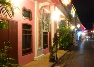 Night Lights and Colour Buildings, Soi Romannee in Phuket Old Town, Travel in Thailand