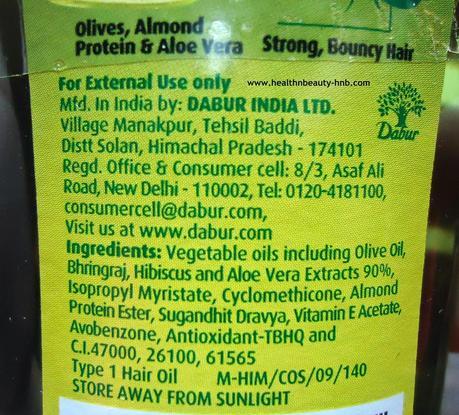 Dabur Vatika Enriched Olive Hair Oil Paperblog