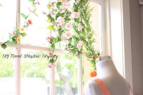 diy floral window display