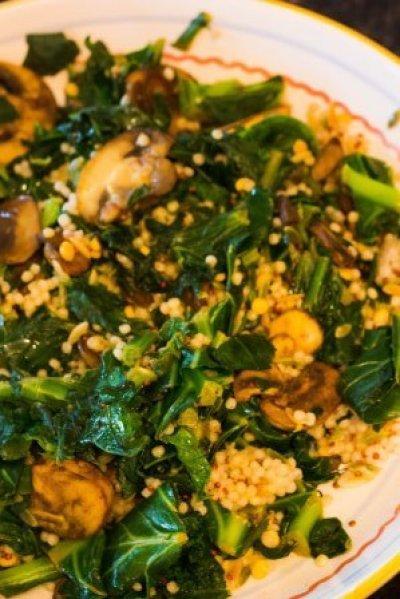 Meatless Monday Collard Greens with Mushrooms