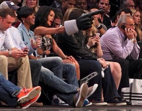 Rihanna Attends Nets Game