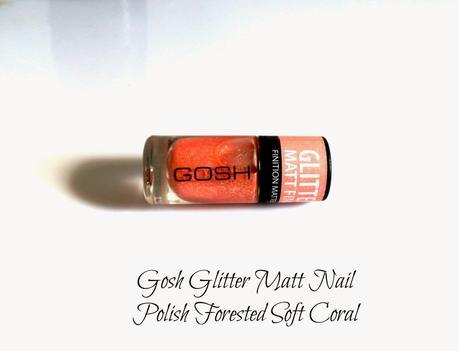 Gosh Glitter Matt Nail Polish Forested Soft Coral Swatches