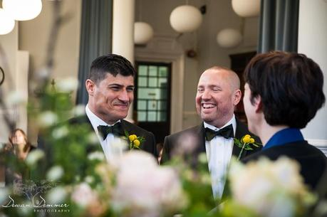 Gay Wedding Ceremony Mayfair Library photography