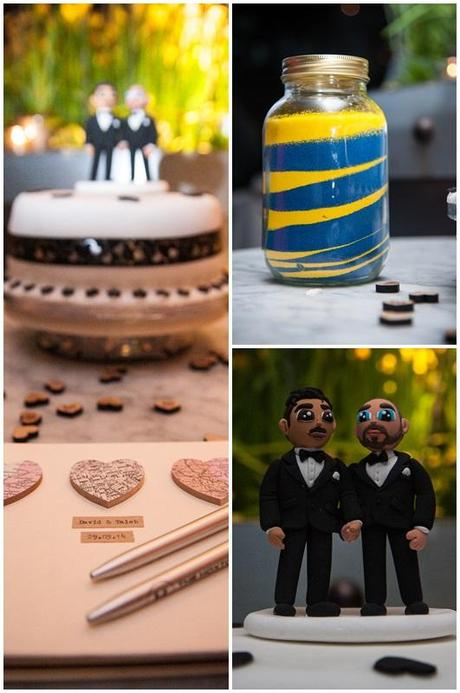 Same Sex Wedding Cake and fun cake top