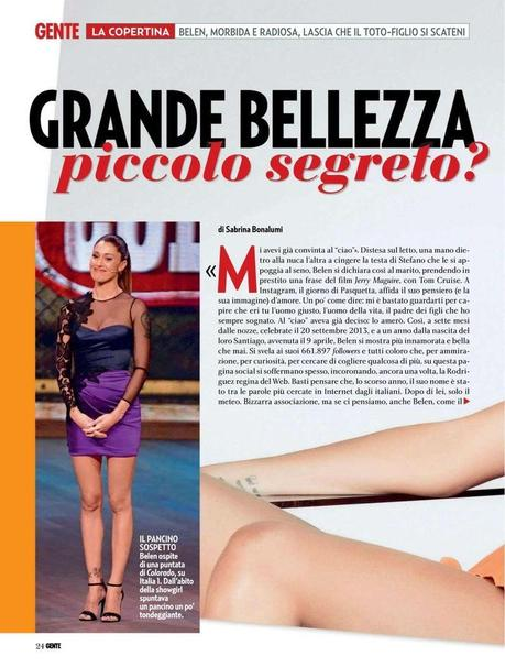 Belen Rodriguez For Gente Magazine, Italy, May 2014