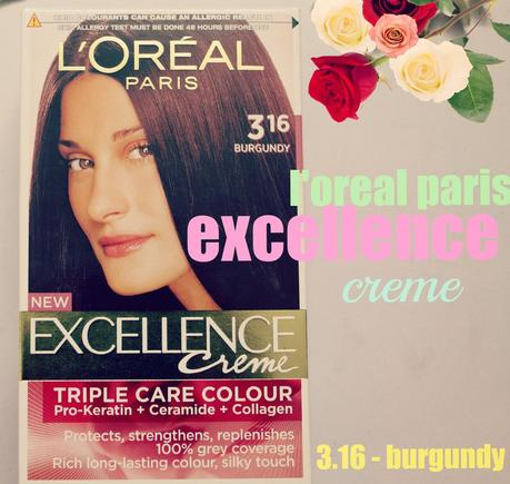 L'Oreal Paris Excellence Creme | 3.16 - Burgundy | Before & After
