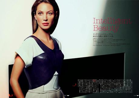 Christy Turlington by Mark Abrahams for Vogue Magazine, Japan, June 2014